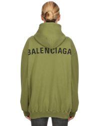 Balenciaga - Logo Printed Jersey Sweatshirt Hoodie - Lyst