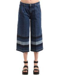 Sonia Rykiel - Washed Striped Denim Trousers - Lyst