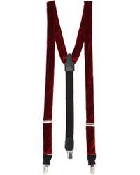 Etro - Velvet Suspenders - Lyst