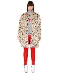MSGM | Faux Leopard Fur Coat | Lyst