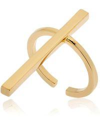 Schield - Cross Brass Ring - Lyst