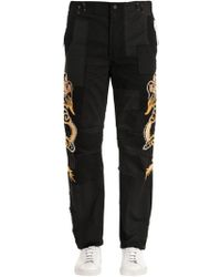 Maharishi - Dragons Patchwork Cotton Pants - Lyst