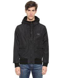 Dolce & Gabbana - Hooded Nylon Bomber Jacket - Lyst