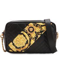 00d17526 Versace Leather Shoulder Bag - Lyst