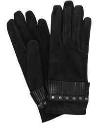 Mario Portolano | Suede Gloves With Fringes & Studs | Lyst