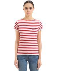 Maison Labiche - Blondie Striped Cotton Jersey T-shirt - Lyst