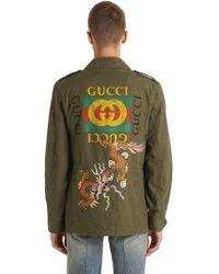 Gucci - Giacca In Cotone Lavato - Lyst