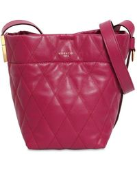 Givenchy - Mini Gv Quilted Leather Bucket Bag - Lyst