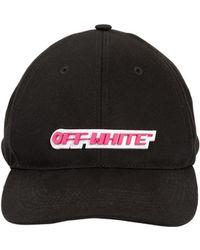 Off-White c/o Virgil Abloh | Logo Patch Canvas Baseball Hat | Lyst