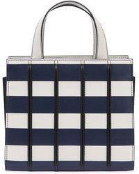 Max Mara - Mini Striped Leather Top Handle Bag - Lyst