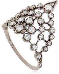 Stone Paris - Swan Gold & Diamond Ring - Lyst