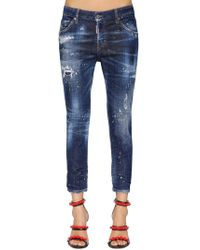 "DSquared² Jeans ""cool Girl Spot"" In Denim Di Cotone Washed"