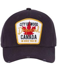 DSquared² - Canada Patch Gabardine Baseball Hat - Lyst