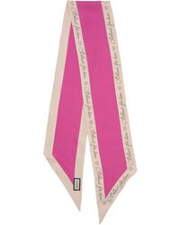 Gucci - Blinded For Love Silk Twill Skinny Scarf - Lyst