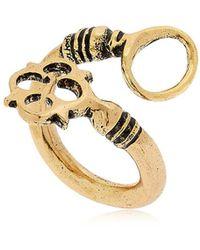 Alcozer & J - Key Shaped Adjustable Ring - Lyst