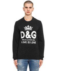 Dolce & Gabbana - Logo Intarsia Cashmere Jumper - Lyst