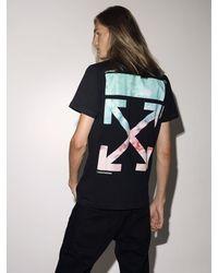 """Off-White c/o Virgil Abloh Camiseta """"Lvr Exclusive"""" De Algodón Estampado - Negro"""