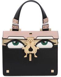 Giancarlo Petriglia - Mini Peggy Eyes Leather Top Handle Bag - Lyst