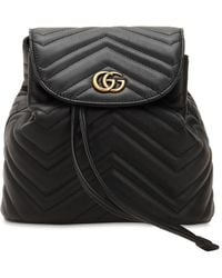 35b1d93694d Lyst - Gucci Gg Marmont 2.0 Quilted Leather Backpack in Black
