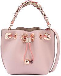 Sophia Webster | Mini Romy Flower Leather Bucket Bag | Lyst