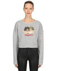 Fiorucci - Vintage Angels Cropped Sweatshirt - Lyst