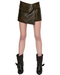 Isabel Marant - Nappa Leather Mini Skirt - Lyst