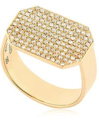 Lito | Infinity Diamond Pave Ring | Lyst