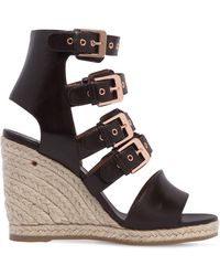 Laurence Dacade - 90mm Rosario Multi Buckle Leather Wedges - Lyst