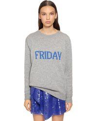 Alberta Ferretti - Oversized Friday Wool & Cashmere Sweater - Lyst