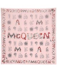 Alexander McQueen - Mcqueen Cabinets Printed Scarf - Lyst