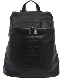Bikkembergs - Army Embossed Faux Leather Backpack - Lyst