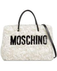 Moschino - Logo Shopper Mohair Tote Bag - Lyst
