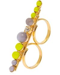 Anton Heunis | Color Block Double Finger Ring | Lyst