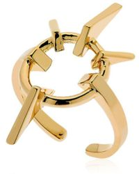 Schield - Geometrical Love Brass Ring - Lyst
