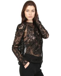 Tom Ford - Lace Patchwork Blouse - Lyst