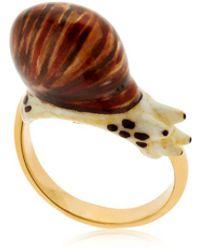 """Nach - Anello """"round Snail"""" - Lyst"""