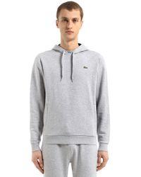 Lacoste - Hooded Cotton Blend Sweatshirt - Lyst