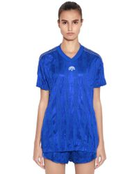 Alexander Wang - Aw Oversized Wrinkled Jacquard T-shirt - Lyst