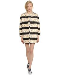 Mother Of Pearl   Floral Printed Cotton & Silk Cocoon Coat   Lyst