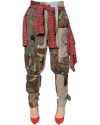 Ronald Van Der Kemp - Patchwork Cotton Pants W/ Shirt Waist - Lyst