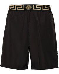 Versace - Logo Nylon Long Swim Shorts - Lyst