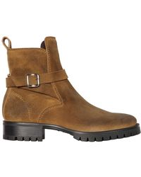 DSquared² - Suede Leather Boots W/ Buckle - Lyst