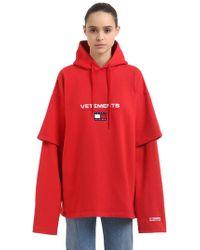 Vetements - Tommy Hilfiger Hooded Cotton Sweatshirt - Lyst