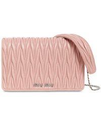 Miu Miu - Mini Delice Quilted Leather Shoulder Bag - Lyst