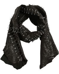 Cutuli Cult - Patchwork Leather Scarf W/ Safety Pins - Lyst