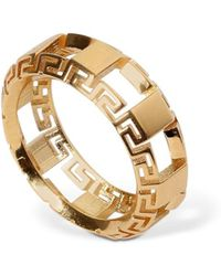 Versace - Ring Mit Greek-motiv - Lyst