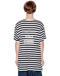 Yohji Yamamoto   Striped Cotton Blend Jersey T-shirt   Lyst
