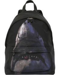 Givenchy - Shark Print On Nylon Cordura Backpack - Lyst