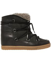 Isabel Marant - Etoile 70mm Nowles Suede Shearling Boots - Lyst