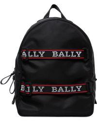 Bally - Nylon Backpack W/ Logo Straps - Lyst